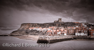 Whitby Harbour & Church