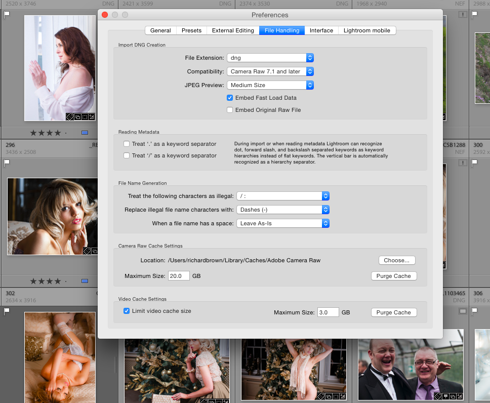 Lightroom Preferences