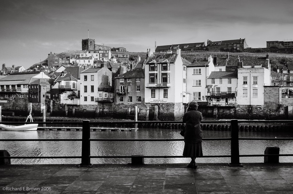 Nikon S3 Compact - Whitby Lady in Black & White