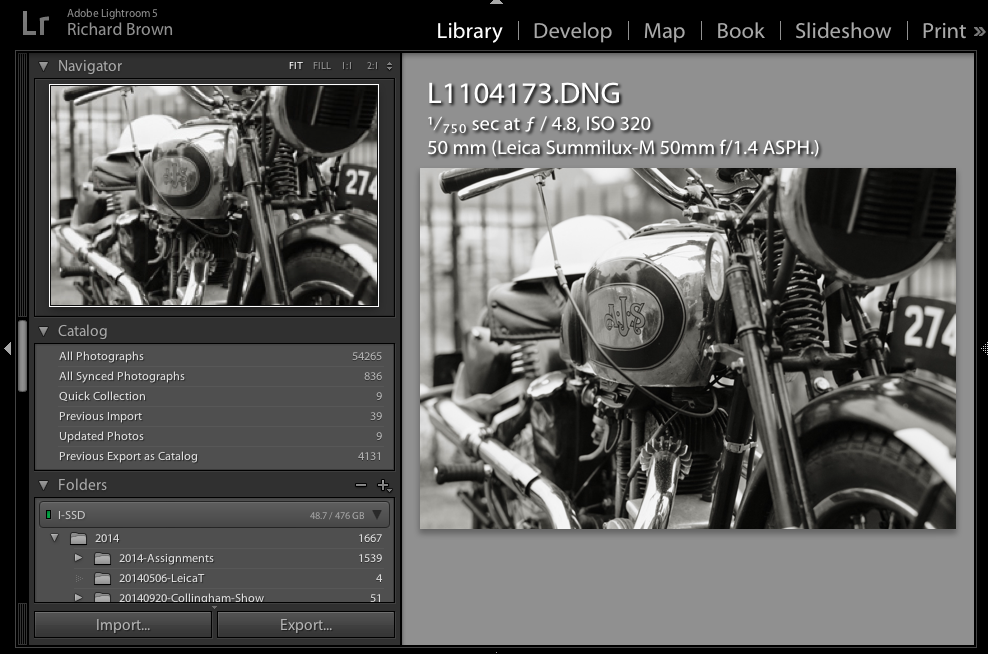 Import export Lightroom